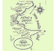 Go To Narnia Map Photographic Print