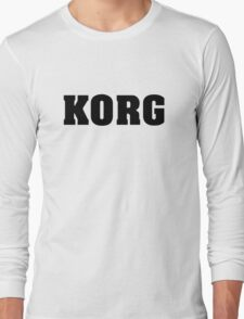 Black Korg Long Sleeve T-Shirt