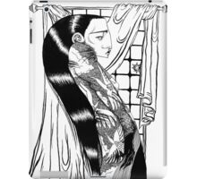 Black Hair at the Window iPad Case/Skin