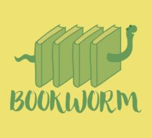 Bookworm in green (with worm) One Piece - Short Sleeve