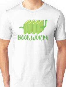 Bookworm in green (with worm) Unisex T-Shirt