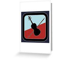 Violin Sign Greeting Card