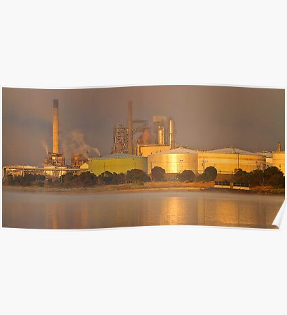 Refinery at sunrise 1 Poster