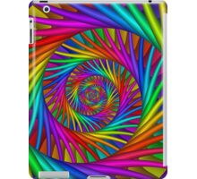 Rainbow Psychedelic Spiral Fractal  iPad Case/Skin