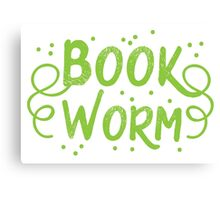 Book worm (in words) Canvas Print
