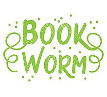 Book worm (in words) Photographic Print