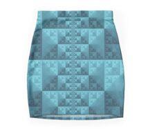 Turquoise Blue Geometric Triangles Mini Skirt