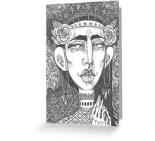 Rose Queen - Crown of Stars Greeting Card