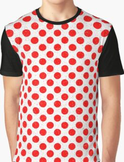Polka Dot Red and White Pattern Graphic T-Shirt