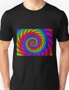 Psychedelic Rainbow Fractal Spiral T-Shirt