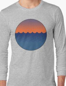 Waves Sunset Long Sleeve T-Shirt