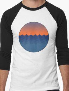 Waves Sunset Men's Baseball ¾ T-Shirt