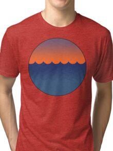 Waves Sunset Tri-blend T-Shirt