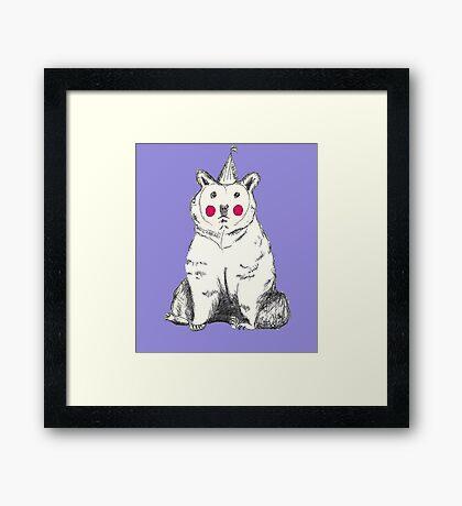 Unhappy Party bear. Framed Print