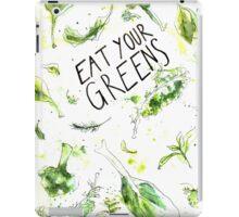 Eat your greens! Iss grün! iPad Case/Skin