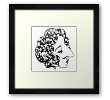 Star-Studded Kiss-Curl Framed Print