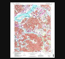 USGS TOPO Map New Jersey NJ Camden 254239 1967 24000 Unisex T-Shirt