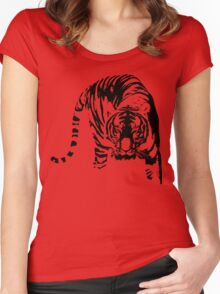 tiger, siberian tiger shirt Women's Fitted Scoop T-Shirt