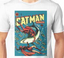 Vintage Golden-age CAT-MAN vs Sharks Comic Book Cover Art RETRO Unisex T-Shirt