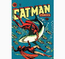 Vintage Golden-age CAT-MAN vs Sharks Comic Book Cover Art RETRO Unisex T-Shirt