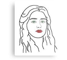 Emilia Clarke - sketch  Metal Print