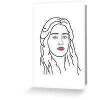 Emilia Clarke - sketch  Greeting Card