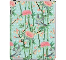Bamboo, Birds and Blossom - soft blue green iPad Case/Skin