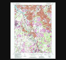 USGS TOPO Map New Jersey NJ Runnemede 254849 1967 24000 Unisex T-Shirt