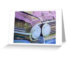 rusty car. Greeting Card