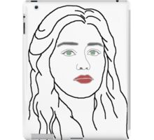 Emilia Clarke - sketch  iPad Case/Skin