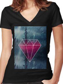 Spiritual Land Women's Fitted V-Neck T-Shirt