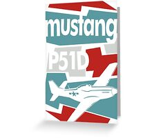 Go Mustang Greeting Card