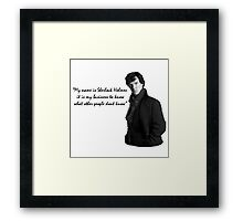SherlockHolmes 0002 Framed Print