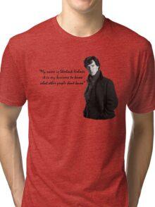 SherlockHolmes 0002 Tri-blend T-Shirt