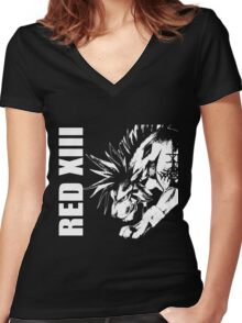 Red XIII - Final Fantasy VII Women's Fitted V-Neck T-Shirt