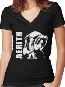 Aerith - Final Fantasy VII Women's Fitted V-Neck T-Shirt
