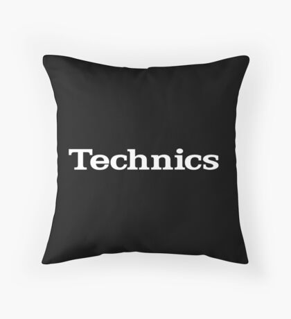 Technics logo Throw Pillow