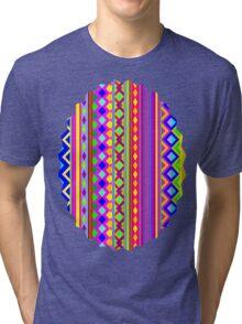 Aztec Psychedelic Chevron Pattern Tri-blend T-Shirt