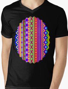 Aztec Psychedelic Chevron Pattern Mens V-Neck T-Shirt
