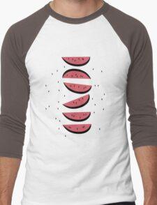 Watermelons Men's Baseball ¾ T-Shirt