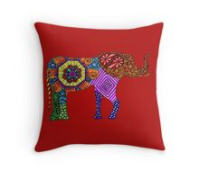 Elephantine Doodles Throw Pillow