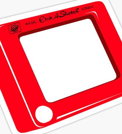 Etch a Sketch Sticker