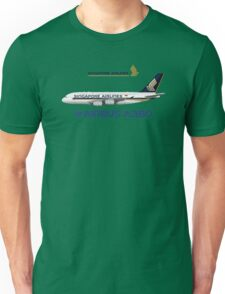 Illustration of Singapore Airlines Airbus A380 - Blue Version Unisex T-Shirt