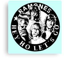 "HEY HO LET""S GO Canvas Print"