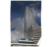 Miami Tower and Metromover Poster