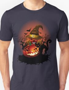 Skull Witch Creepy Halloween Unisex T-Shirt