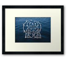 A Star Crown and the Blue Sea Framed Print