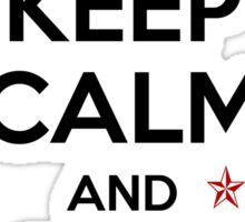 KEEP CALM and be a unicorn in burgundy Sticker