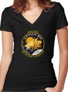 Nasa's Apollo 13 Insignia. Women's Fitted V-Neck T-Shirt