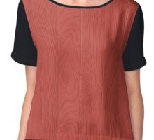Hand drawn wooden texture Chiffon Top